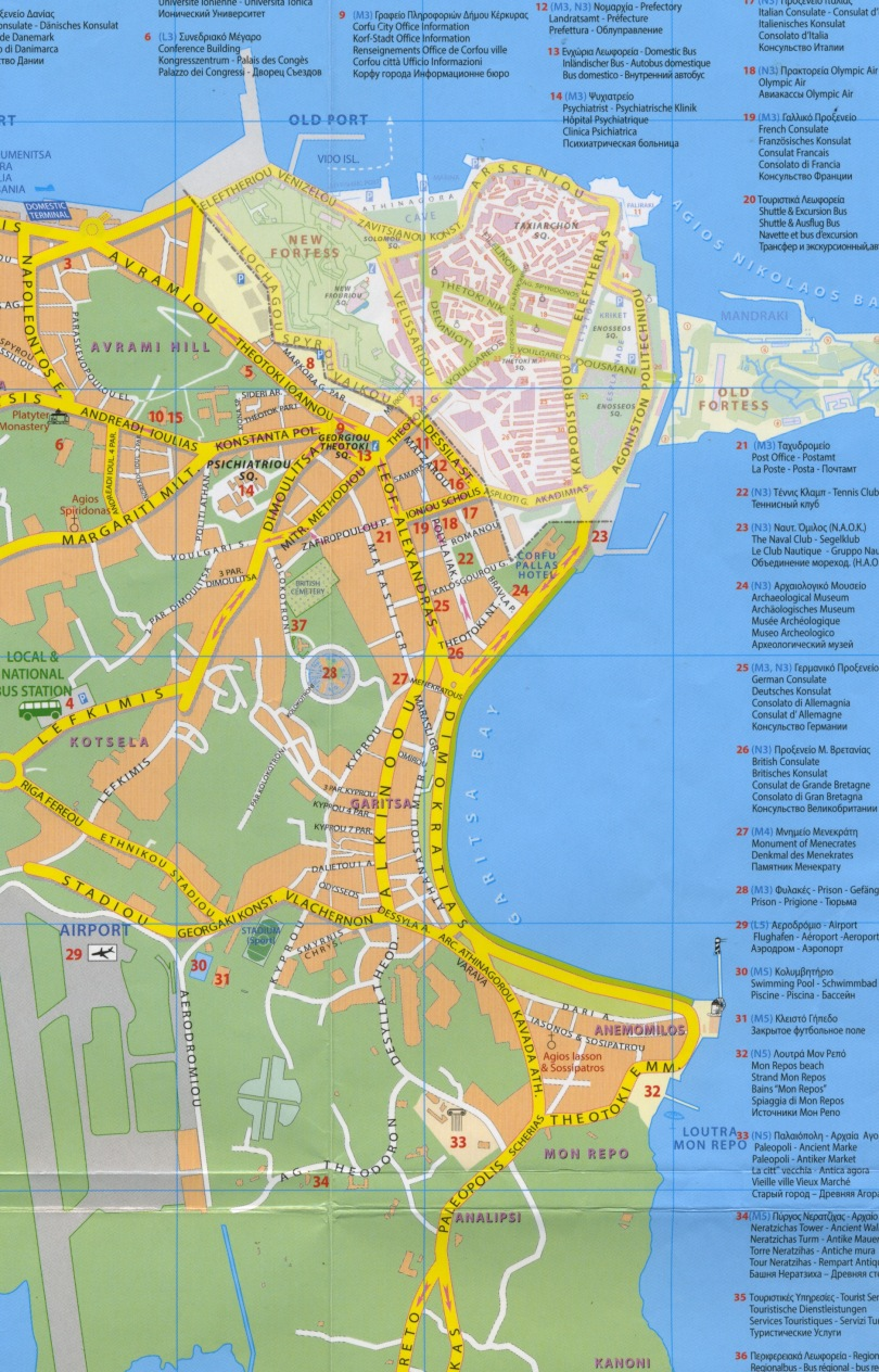 Corfu City Map