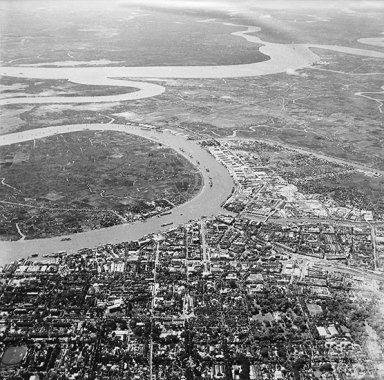 Saigon from the air in 1955